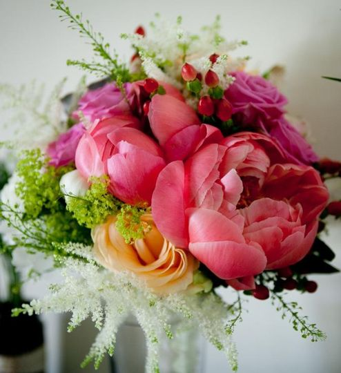 Peony and rise bouquet