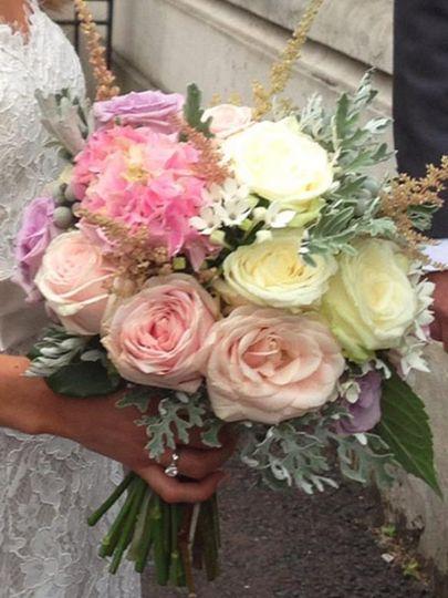 Summer blush bouquet