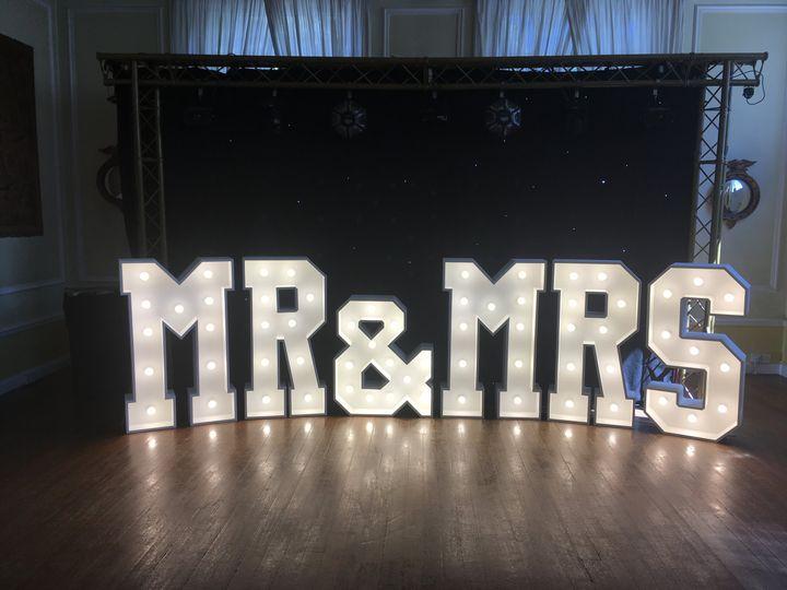 4ft white light-up letters