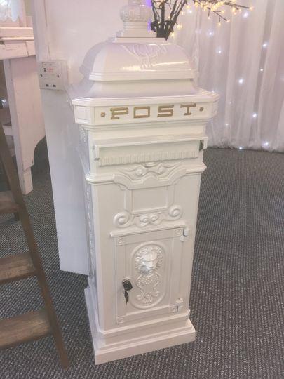 White Victorian post box hire