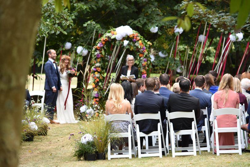 Boho outdoor ceremony