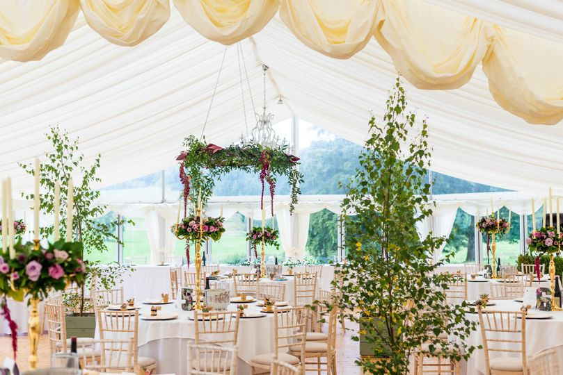 Glass Sided Marquee - Photo credit @jameskellyphotography