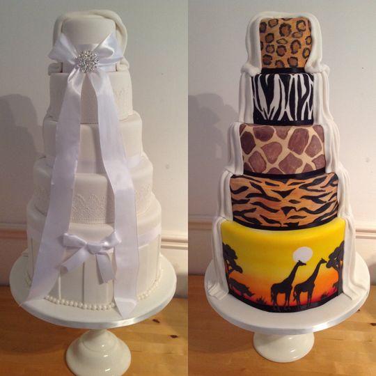 Half and half safari cake