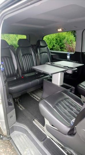 Rear seating of mercedes