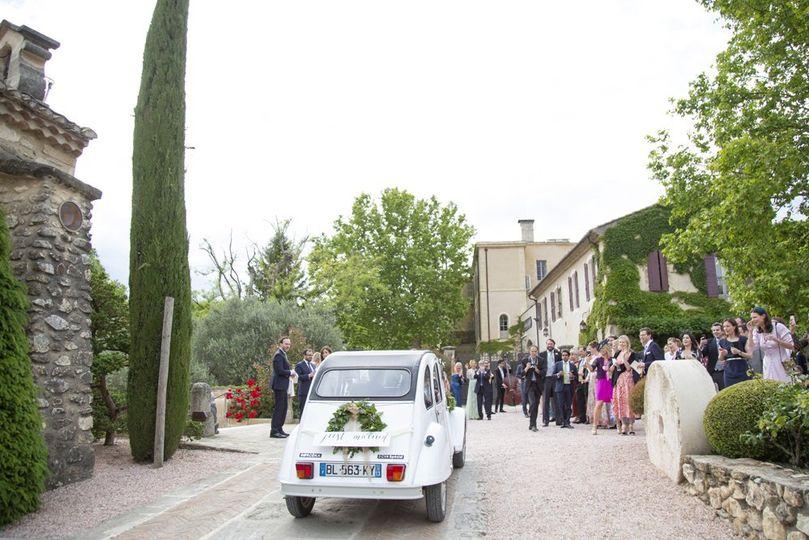 2CV wedding in France