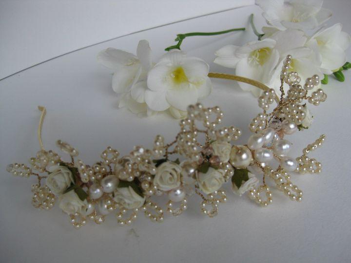 Pearl rose tiara