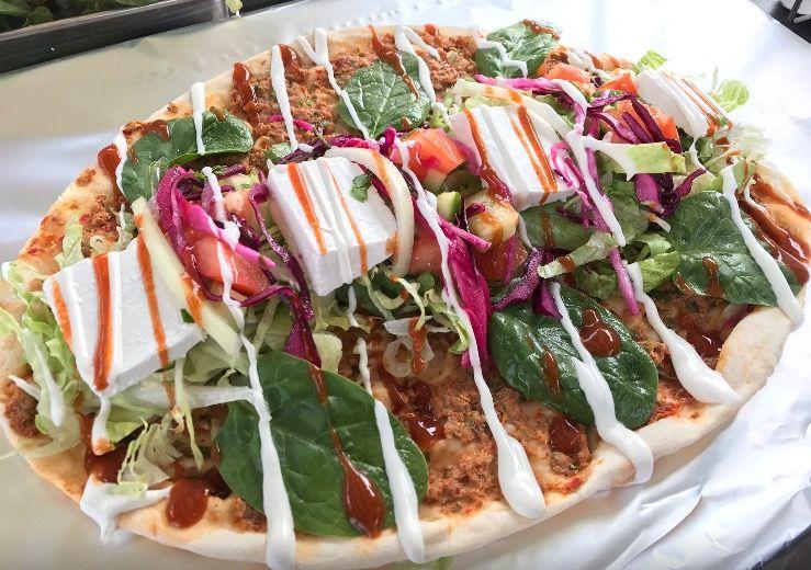 Minced Lamb Wrap-Pizza
