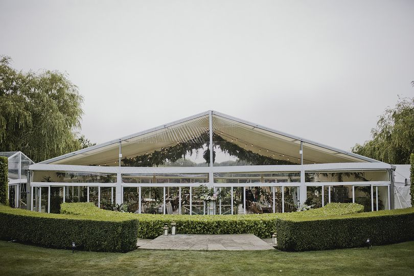 Clear fronted marquee
