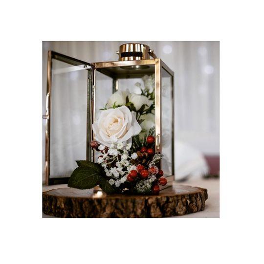Copper lantern centrepiece