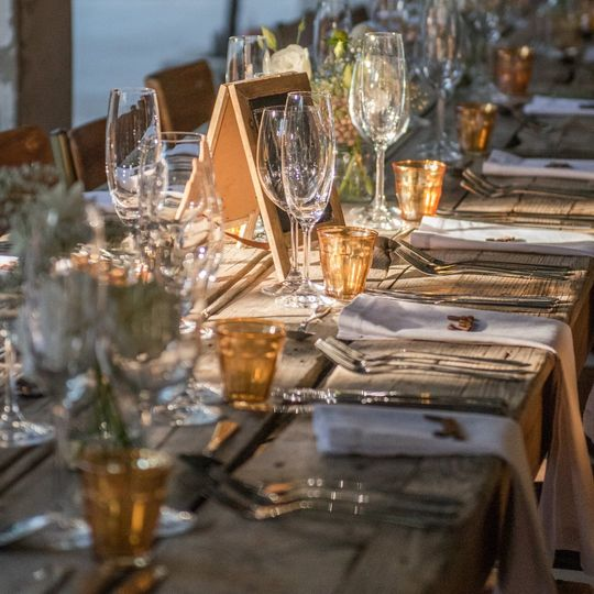 Eco-friendly wedding decor