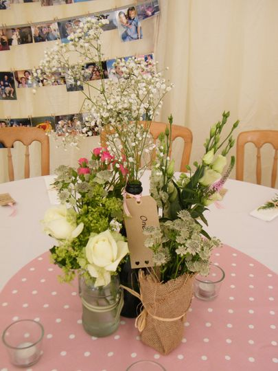 Country Style Flowers in Jars