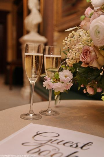 Toast your special day as soon as you arrive