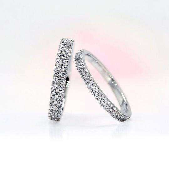 AVA double row round diamonds