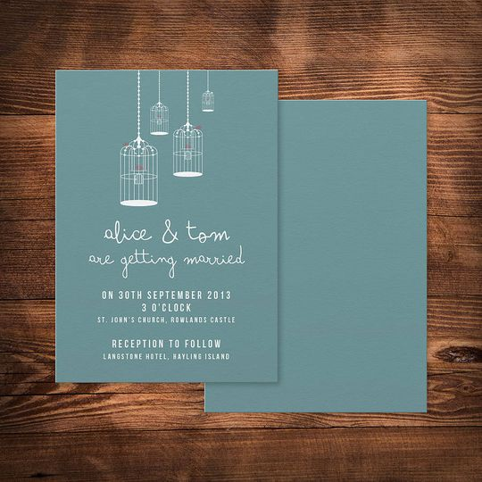'Birdcage' wedding invitation