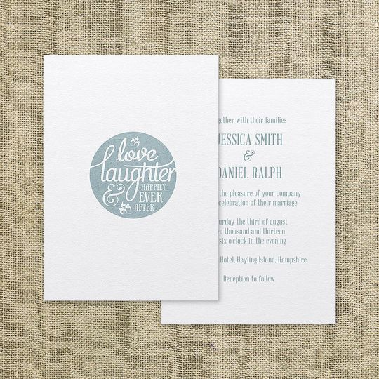 'Happily ever after' invite
