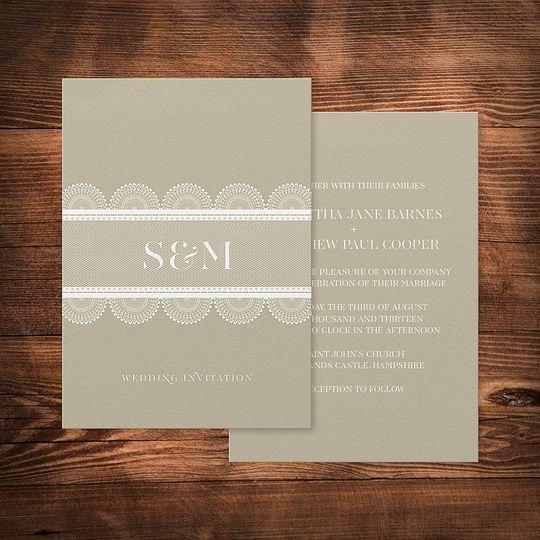 'Lace' wedding invitation