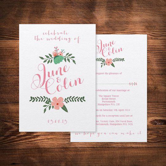 original summer garden wedding invitations 4 106851