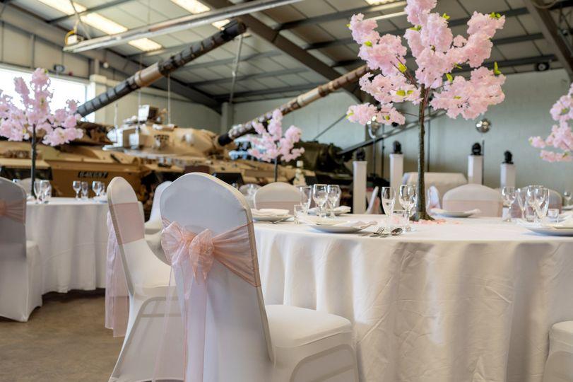 White wedding in Cold War Hall