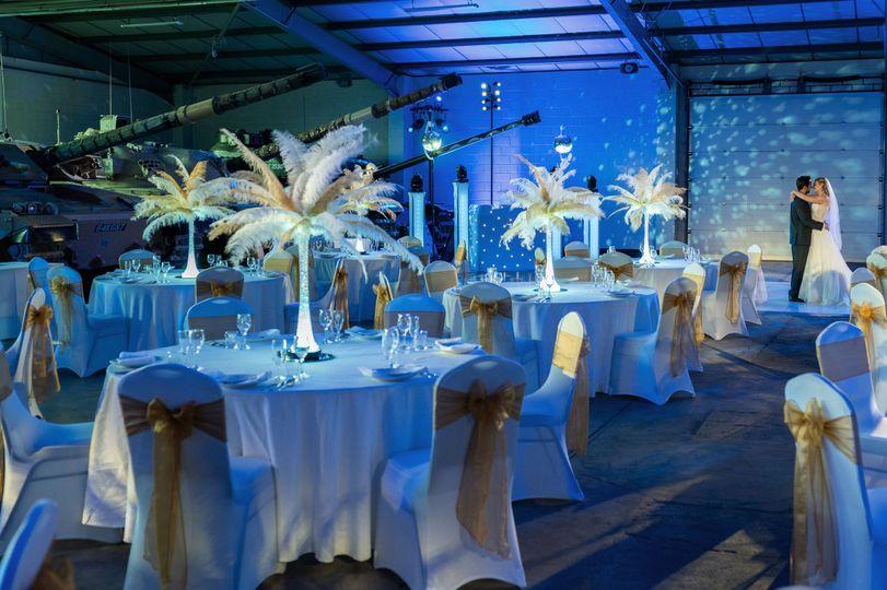 Modern wedding with dancefloor