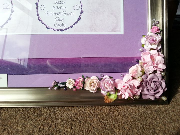 Flowers on frame