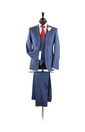 Navy Fleck Longe Suit