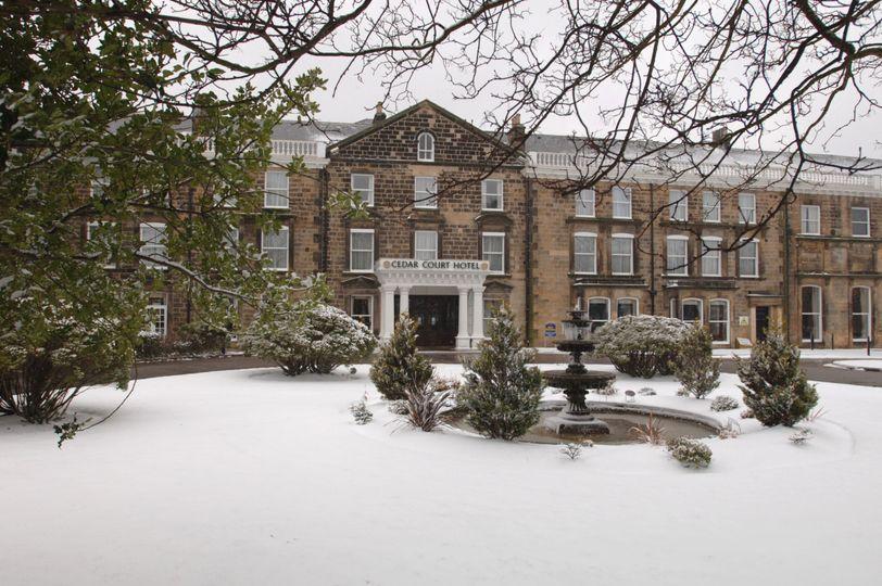 Snowy Cedar Cout Hotel Harrogate