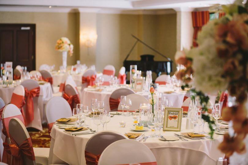 Worsley Suite Wedding Breakfast Set Up