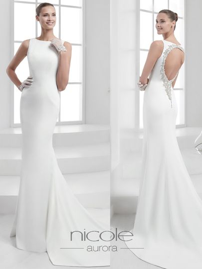Sleek and simple white dress