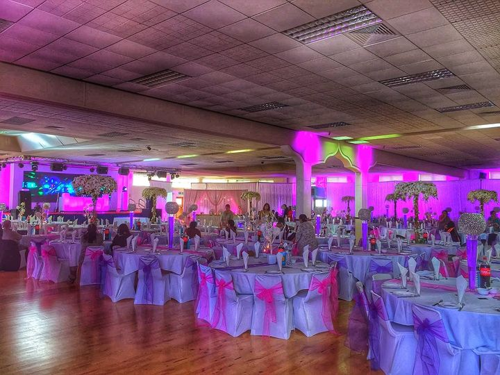 Room shot with draping