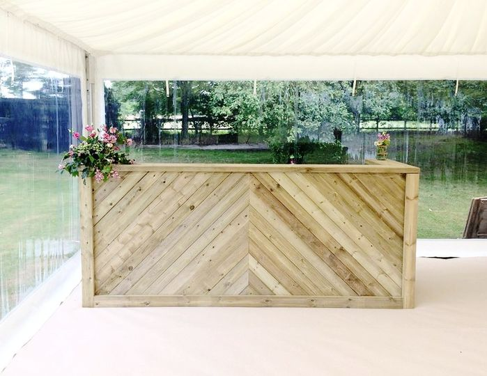Wooden bar hire Norfolk