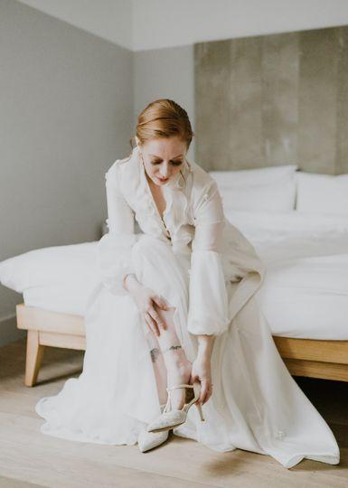 Elegant two piece coat & skirt