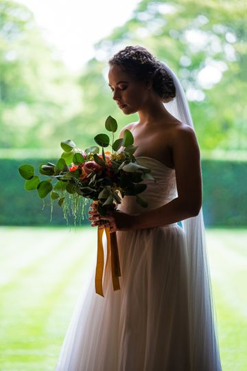 Strapless 2 piece bridal gown