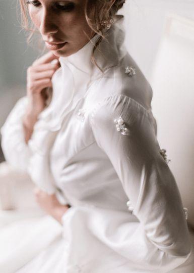 Wedding dress with sleeves,