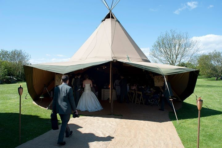A tepee for the wedding breakfast