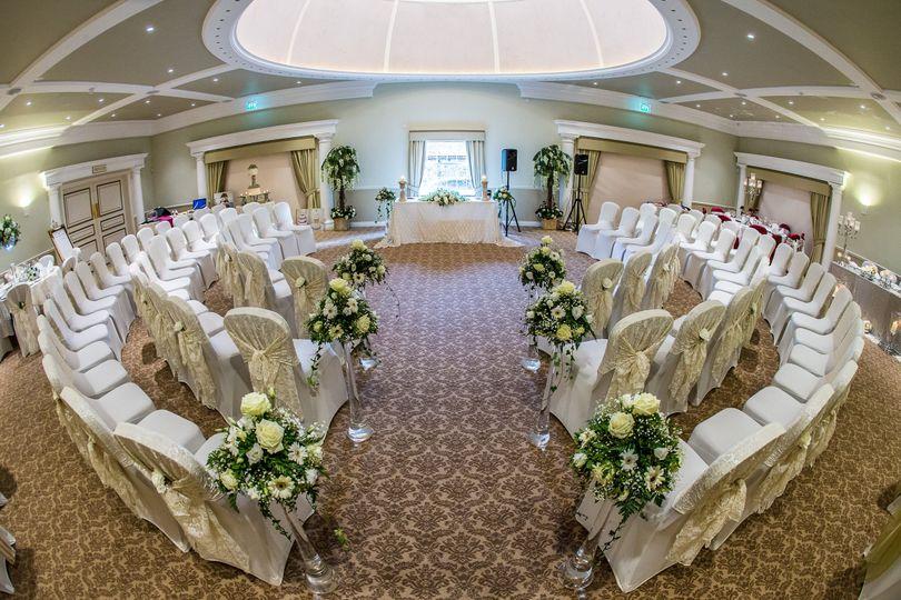 Breathtaking indoor Ceremony Venue