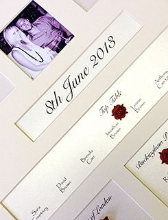 Personalised table plans