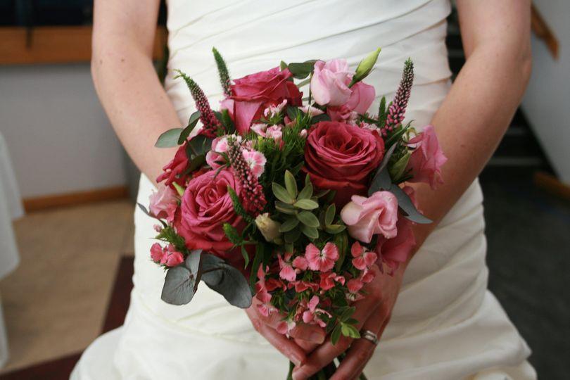 Blackberry rose bridal bouquet