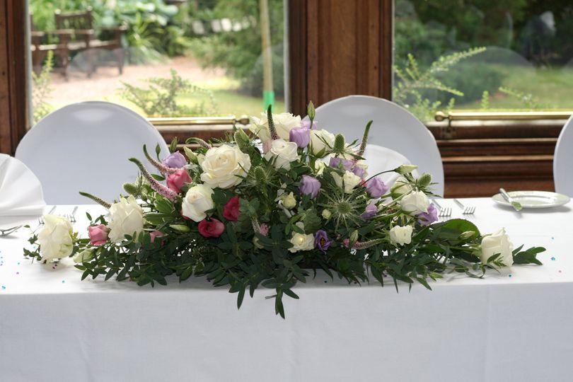 Scottish top table arrangement