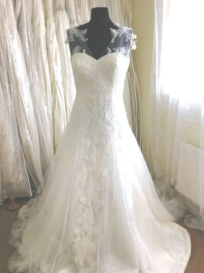 Floaty lace/tulle gown