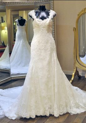 Full lace gown with straps