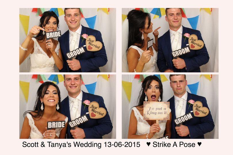 Scott & tanya's wedding booth