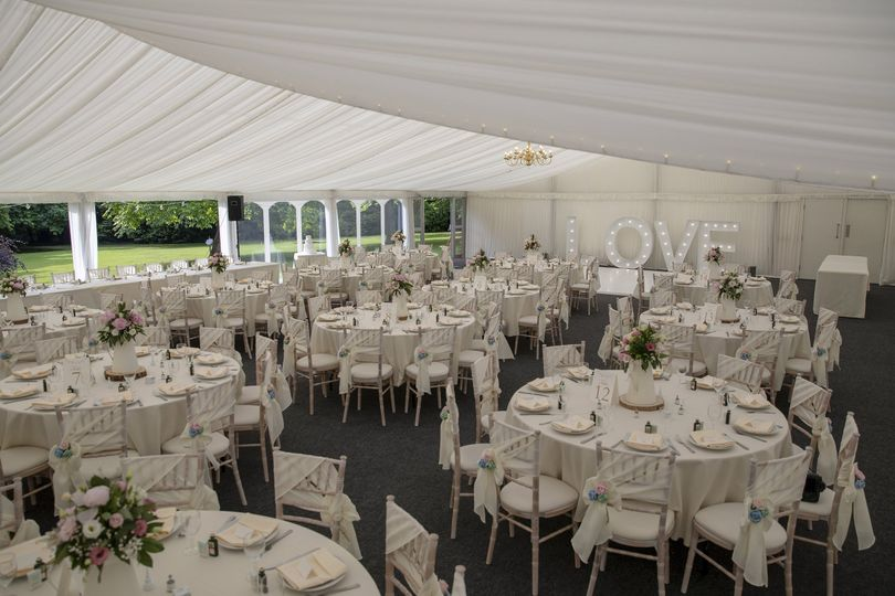 The marquee at Ormesby Hall