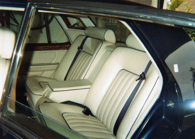 Interior of blue classic