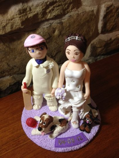 Cricket themed topper