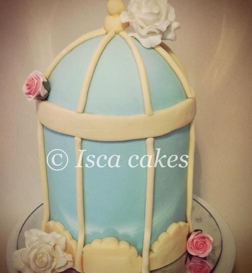 Bird cage wedding cake