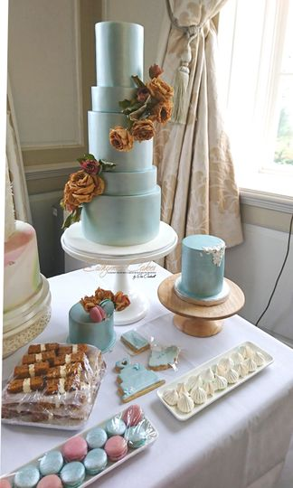 Blue Vintage Dessert Table