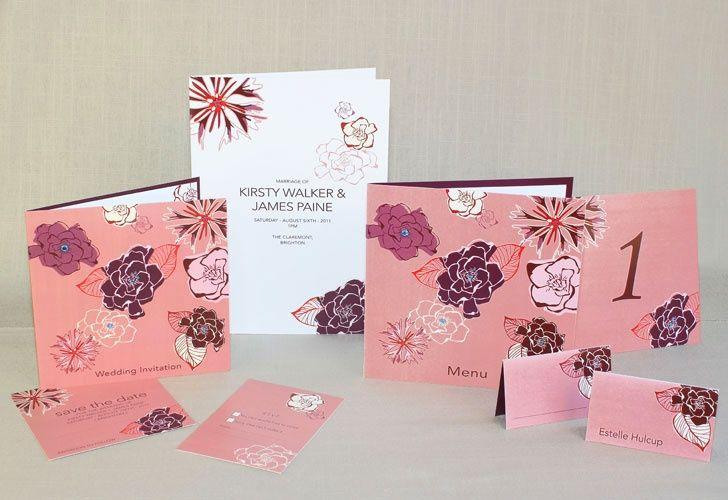 abstract flower wedding invitation range2 4 107044