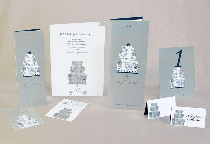 Cake wedding stationery