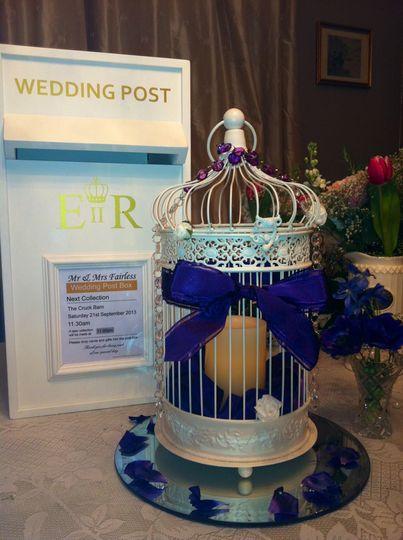 Traditional wedding postbox