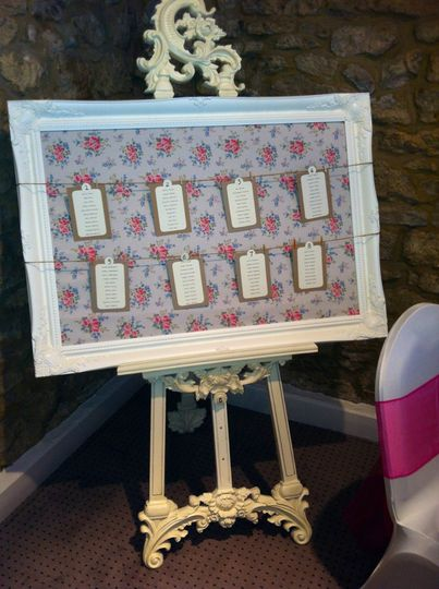 Our wedding easel and frame